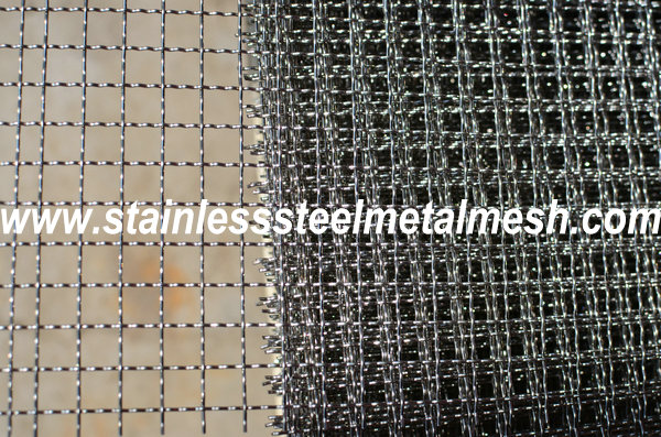 BWG20 (0.91mm Wire Dia.) Crimped Wire Mesh Aperture Size 10mm