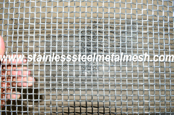 BWG10 (3.25mm Wire Dia.) Crimped Wire Mesh Aperture Size 15mm