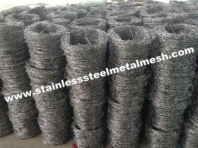 Stainless Steel Barbed Wire Used For Prison